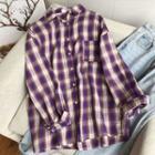 Plaid Shirt Plaid - Violet - One Size