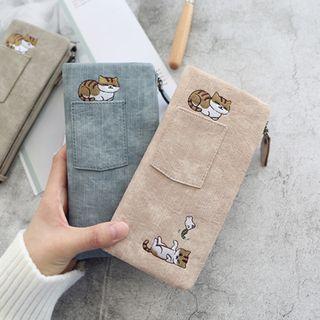 Cartoon Cat Print Long Wallet