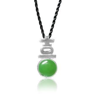 Jade Pendant With Silk Cord