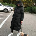Hooded Duck Down Long Puffer Coat