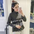 Striped Panel Dotted Shirt