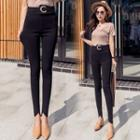 Hoop-accent Skinny Pants