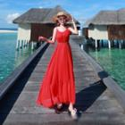 Plain Chiffon Strap Dress