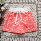 Drawstring-waist Star-print Shorts