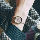 Couple Matching Strap Square Watch