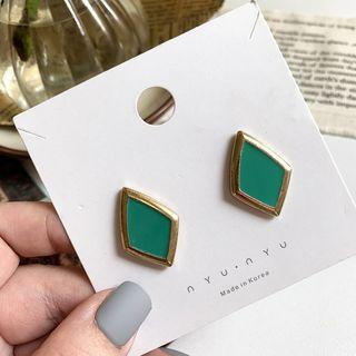 Rhombus Stud Earring Earrings - One Size