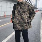 Oversize Camo Hooded Pullover