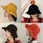 Frilled Bow-accent Bucket Hat