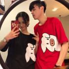 Couple Matching Pig Cartoon Printed T-shirt