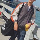 Lightweight Colorblock Baseball Jacket