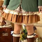 Lace Hem A-line Skirt
