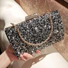 Rhinestone Handbag Black - One Size