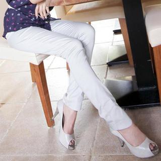 Lace-trim Skinny Pants