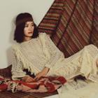 Fringed Knit Midi Dress