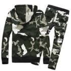 Couple Matching Set: Camouflage Hoodie + Sweatpants