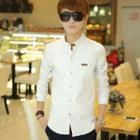 Long-sleeve Stand Collar Shirt