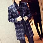 Patterned Long Blazer