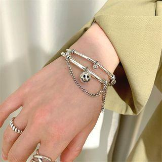 925 Sterling Silver Smiley Bangle