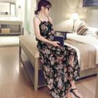 Spaghetti Strap Floral Maxi Dress