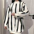Striped Fleece Long Top