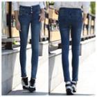 High Waist Washed Skinny Jeans