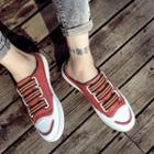 Canvas Backless Sneakers