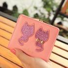 Glitter Cat Short Wallet