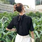 Tie-back Short-sleeve Top