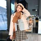 Single-breasted Jacket / Plaid Pleated Skirt