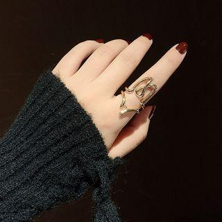 Alloy Wirework Open Ring Gold - One Size