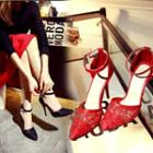 Lace Pointy Pumps