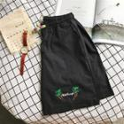 Embroidery Drawstring Shorts