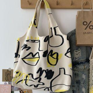 Printed Shopper Bag Off-white - One Size