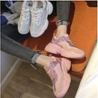 Iridescent Mesh Panel Chunky Sneakers