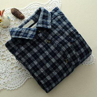 Quilted Plaid Shirt