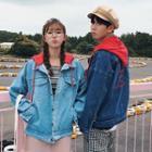 Couple Matching Hooded Denim Jacket
