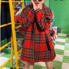 Plaid Zip Jacket Plaid - Red - One Size