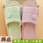 Button Detail Slippers