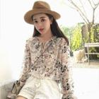 Floral Chiffon Blouse / Sleeveless Dress