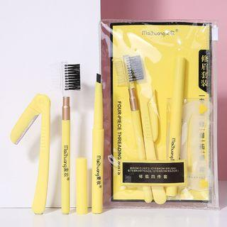 Set: Eyebrow Makeup Brush + Razor + Comb As Shown In Figure - One Size