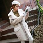 Faux-shearling Long Coat