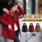 Furry Hood Padded Coat