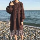 Long Cable Knit Sweater