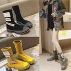 Applique Mid-calf Boots