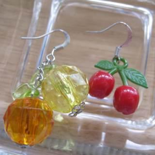 Lovely Cherry And Oranges Earrings