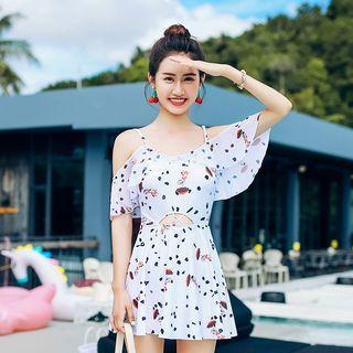 Strappy Patterned Swim Dress