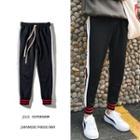 Stripe Drawstring Jogger Pants