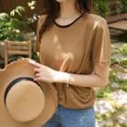 Ringer Linen Blend T-shirt