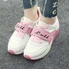 Faux-leather Velcro Sneakers