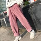 Elasticized Baggy Corduroy Pants